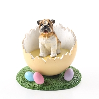 Bulldog Easter Egg Figurine
