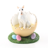 Bull Terrier Easter Egg Figurine