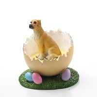 Great Dane Fawn w/Uncropped Ears Easter Egg Figurine