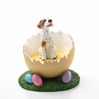 Pointer Brown & White Easter Egg Figurine