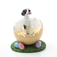 Pointer Black & White Easter Egg Figurine