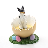 Rat Terrier Easter Egg Figurine