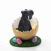 Kerry Blue Terrier Easter Egg Figurine