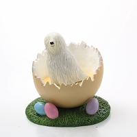Komondor Easter Egg Figurine