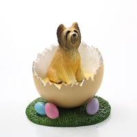 Briard Easter Egg Figurine