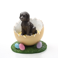Labradoodle Chocolate Easter Egg Figurine