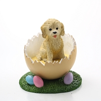 Cockapoo Blond Easter Egg Figurine