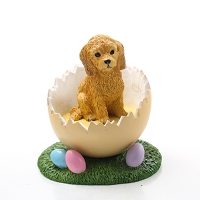 Goldendoodle Easter Egg Figurine