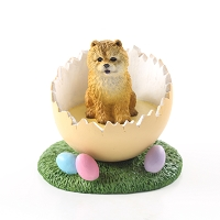Chow Red Easter Egg Figurine