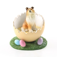 Collie Sable Easter Egg Figurine