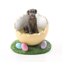 Labrador Retriever Chocolate Easter Egg Figurine