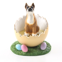Boxer Easter Egg Figurine