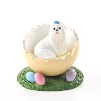 Maltese Easter Egg Figurine