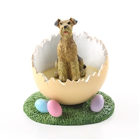 Airedale Easter Egg Figurine