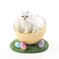 West Highland Terrier Easter Egg Figurine