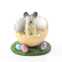 Skye Terrier Easter Egg Figurine