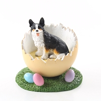 Welsh Corgi Cardigan Easter Egg Figurine