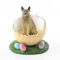 Norwegian Elkhound Easter Egg Figurine
