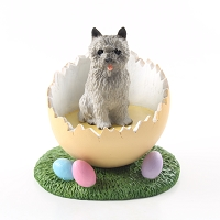 Cairn Terrier Gray Easter Egg Figurine