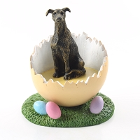 Greyhound Brindle Easter Egg Figurine