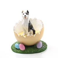 Pit Bull Terrier Brindle Easter Egg Figurine