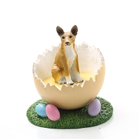 Basenji Easter Egg Figurine
