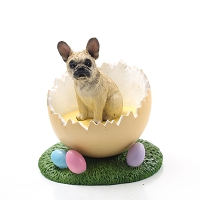 French Bulldog Fawn Easter Egg Figurine