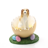 Borzoi Easter Egg Figurine