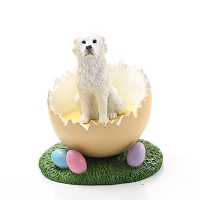 Great Pyrenees Easter Egg Figurine