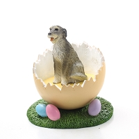 Irish Wolfhound Easter Egg Figurine