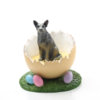 Australian Cattle BlueDog Easter Egg Figurine