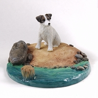 Jack Russell Terrier Brown & White w/Rough Coat Everyday Life Beach