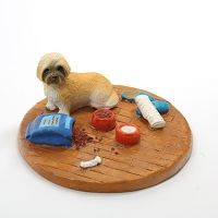 Lhasa Apso Brown w/Sport Cut Everyday life Home