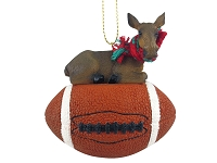 Moose Cow Football Ornament