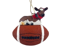Guernsey Cow Football Ornament