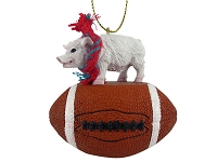 Pig Pink Football Ornament