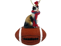 Calico Shorthaired Football Ornament