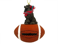 Poodle Chocolate Football Ornament