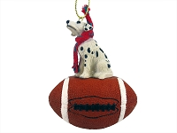 Dalmatian Football Ornament