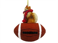 Pomeranian Red Football Ornament