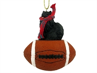 Pomeranian Black Football Ornament