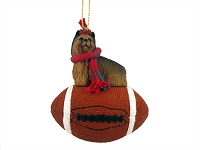 Yorkshire Terrier Football Ornament