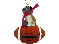 Bulldog Football Ornament