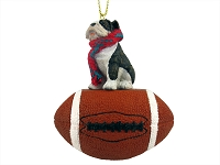 Bulldog Brindle Football Ornament
