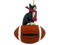 Chihuahua Black & White Football Ornament