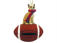 Chihuahua Tan & White Football Ornament