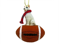 Bull Terrier Football Ornament
