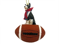 Bull Terrier Brindle Football Ornament