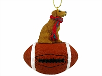 Golden Retriever Football Ornament