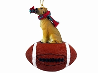 Great Dane Fawn w/Uncropped Ears Football Ornament